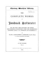 The Complete Works of Joshuah Sylvester PDF