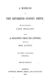 A Memoir of the Reverend Sydney Smith: Volume 1