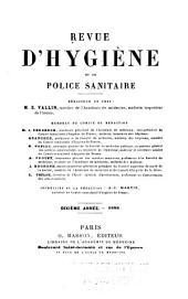 Revue d'hygiène et de médecine préventive: Volume10