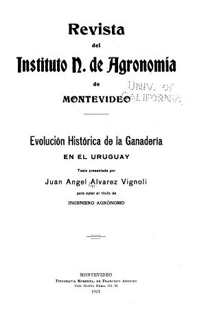 Evolucion Historica De La Ganaderia En El Uruguay