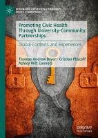 Promoting Civic Health Through University Community Partnerships PDF