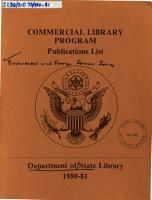 Commercial Library Program  Publications List PDF