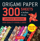 Origami Paper 300 Sheets Japanese Designs 4 (10 Cm)