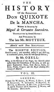 The History of the Renowned Don Quixote de la Mancha 3 Book