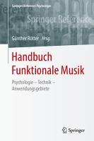 Handbuch Funktionale Musik PDF