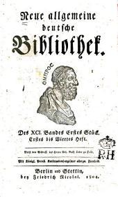 Neue allgemeine deutsche Bibliothek: Band 91