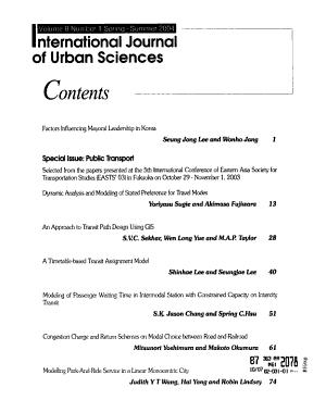 International Journal of Urban Sciences PDF