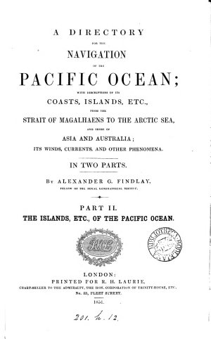A directory for the navigation of the Pacific ocean
