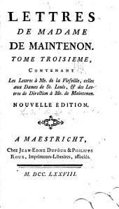 Mémoires et lettres de Madame de Maintenon: Lettres de Madame de Maintenon