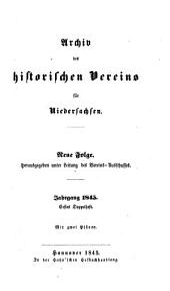 Archiv des Historischen Vereins für Niedersachsen