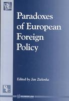 Paradoxes of European Foreign Policy PDF