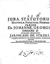 De iuribus statutorum, disp