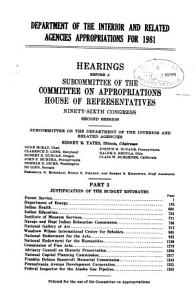 Department of the Interior and Related Agencies Appropriations for 1981 PDF