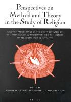 Perspectives on Method and Theory in the Study of Religion PDF