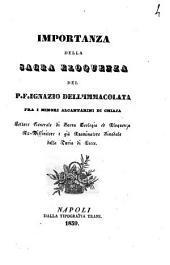 Importanza della sacra eloquenza del P. F. Ignazio Dell'Immacolata