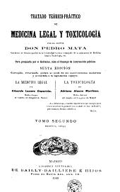 Tratado teórico-práctico de medicina legal y toxicología: Volumen 2
