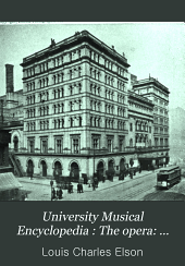 University Musical Encyclopedia: The opera: history and guide