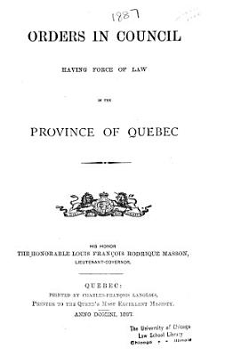 Statutes of Quebec PDF