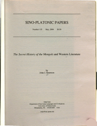 The Secret History of the Mongols and Western Literature PDF