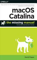 macOS Catalina  The Missing Manual PDF