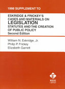 Download 1998 Supplement to Eskridge   Frickey s Cases and Materials on Legislation Book