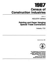 1987 Census of Construction Industries: Industry series, Volumes 11-20
