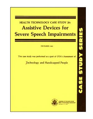 Assistive devices for severe speech impairments PDF