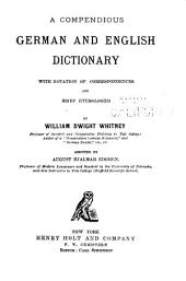 A Compendious German and English Dictionary