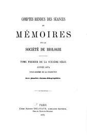 Comptes rendus des séances de la Société de biologie et des ses filiales: Volume26
