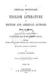 Supplement to Allibone's Critical Dictionary of English Literature and British and American Authors: Volume 2