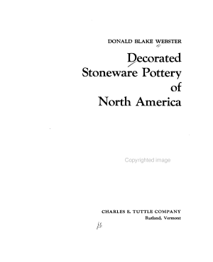 Decorated Stoneware Pottery of North America