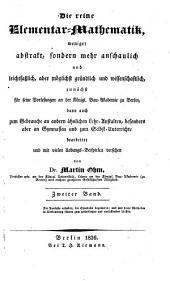 Die allgemeine Grössenlehre und die ebene Raumgrössenlehre : mit Inbegriff der analytischen und der ebenen Trigonometrie