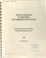 The State Role in Western Watershed Initiatives PDF
