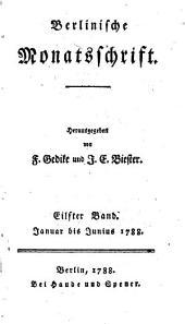 Berlinische Monatsschrift: Band 11