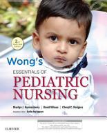 Wong s Essentials of Pediatric Nursing  Second South Asian Edition PDF