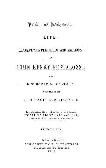 Life  Edicatopma   rinciples  and Methods of john Henry Pestalozzi PDF