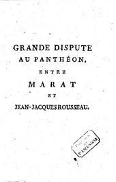 Grande dispute au Panthéon entre Marat et Jean-Jacques Rousseau