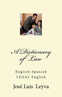 A Dictionary of Law PDF