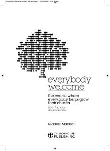 Everybody Welcome  The Course Leader s Manual Book