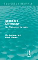 Economic Democracy  Routledge Revivals  PDF