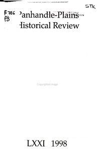 Panhandle Plains Historical Review PDF