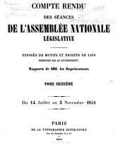Compte rendu des séances de l'Assemblée nationale: Volume16