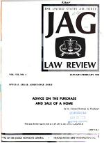 The United States Air Force JAG Law Review