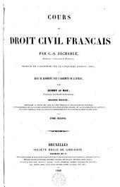 Cours de droit civil français: Volume 2