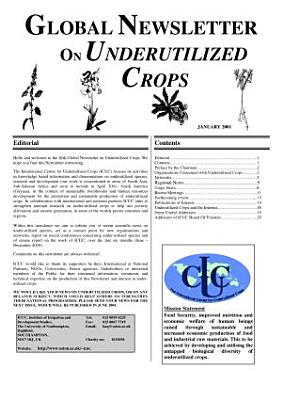 Global Newsletter of Underutilized Crops  Jan  2001  PDF