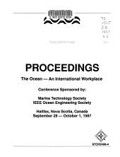 Oceans 87 Proceedings PDF