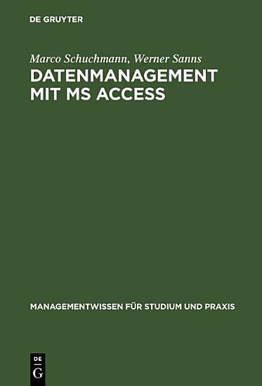 Datenmanagement mit MS ACCESS PDF