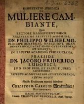 Dissertatio Juridica De Muliere Cambiante