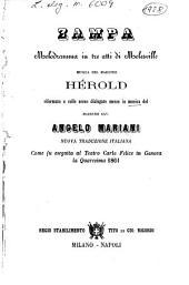 Zampa: melodramma in tre atti : come fu eseguita al Teatro Carlo Felice in Genova la quaresima 1861