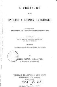 A treasury of the English   German languages PDF